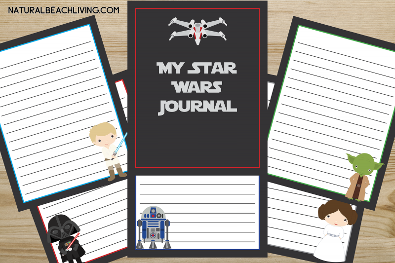 photograph relating to Printable Stationary for Kids named No cost Star Wars Printables Magazine for Young children - Natural and organic Beach front