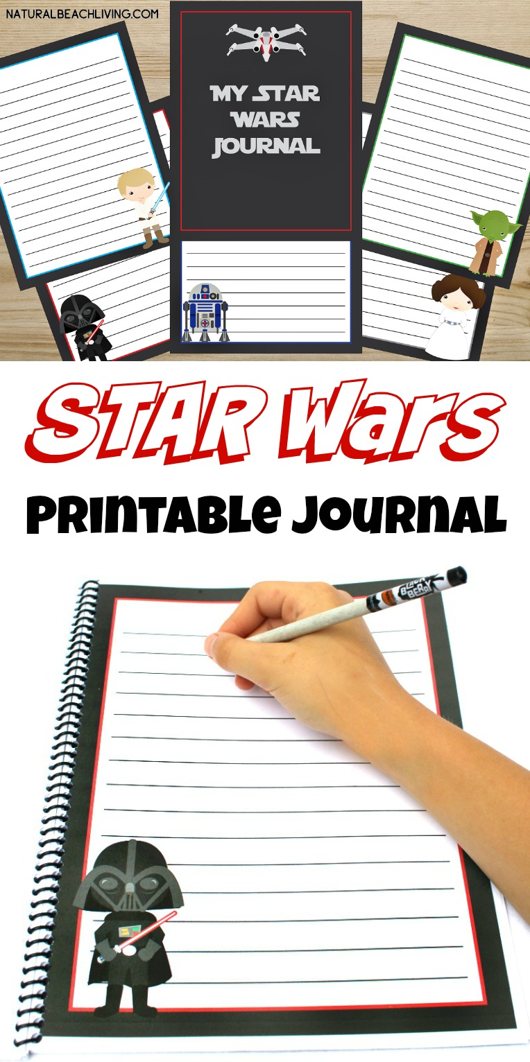 free star wars printables journal for kids star wars fans love these writing pages