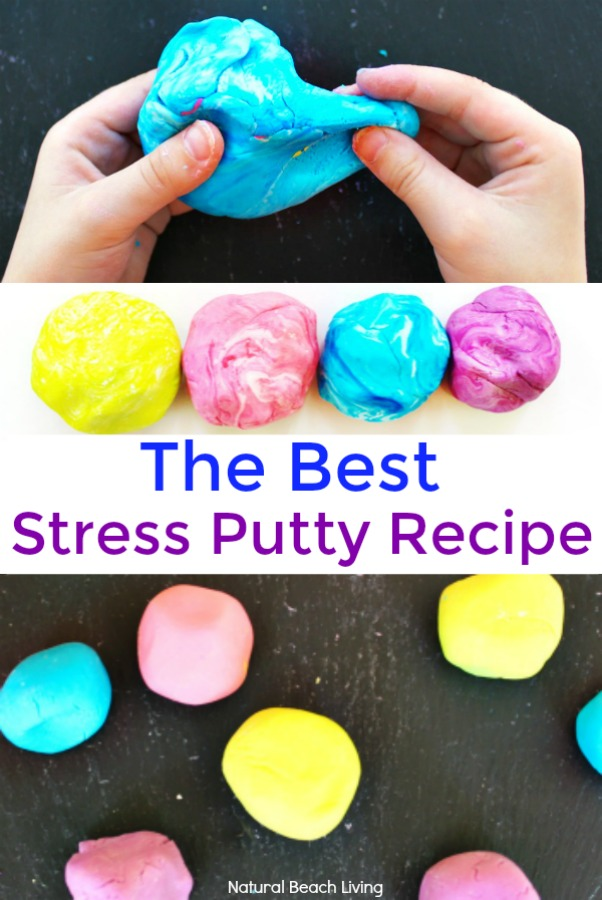 How to Make Thinking Putty, The Best Stress Putty Recipe, perfect sensory play, therapy putty for special needs, autism, and working fine motor skills, Best Sensory Dough, Essential Oils Dough, Therapy dough for kids, Stress Putty Recipe, Stress Relieving Dough