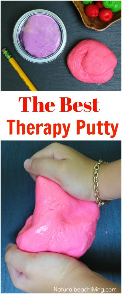 The Best Therapy Putty Recipe You'll Ever Make, Stress Putty, DIY Therapy Putty, Silly Putty Recipe, Homemade Stress Putty, Therapy Dough, Sensory Play