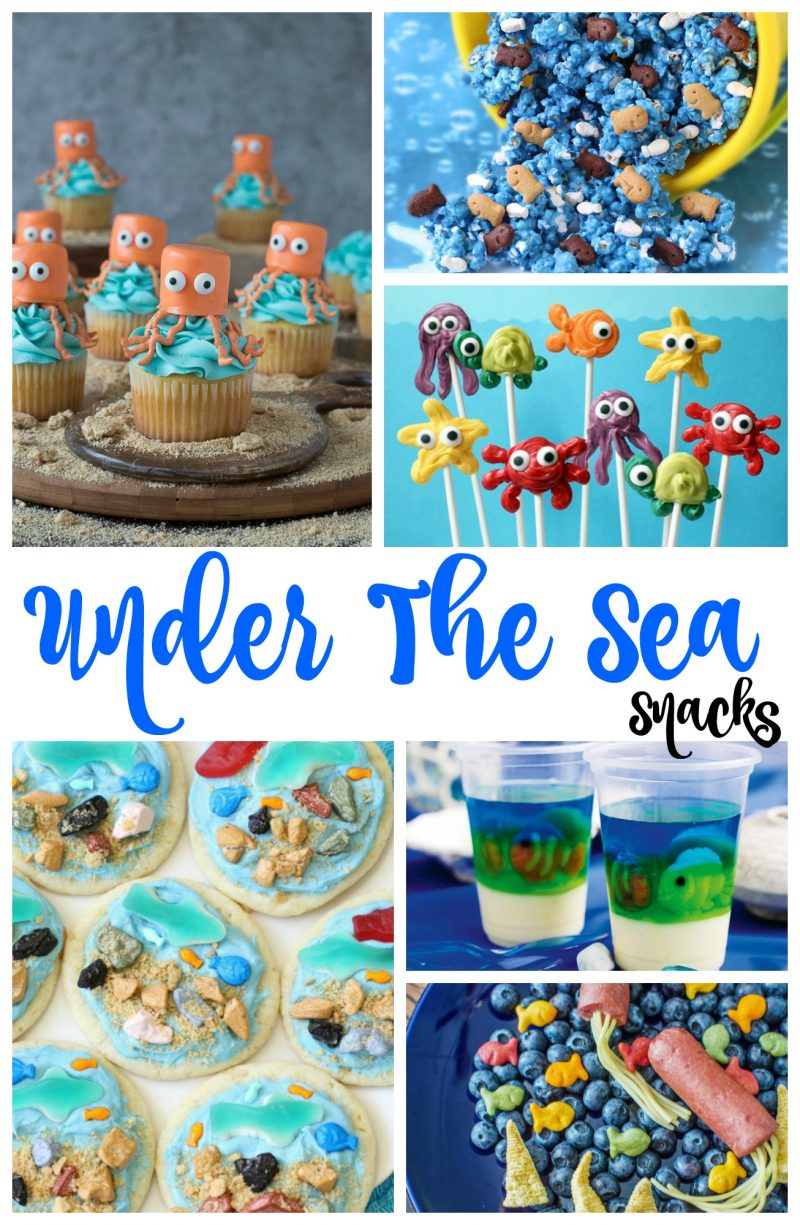The Best Under the Sea Snacks for Kids, you'll Love these Under the sea Party ideas, So if you are looking for The Best Under the sea snack ideas or Beach theme food ideas you'll find them here.  Ocean Themed Snacks and Fun Ocean Party Ideas, Plus Party Food that kids love. Perfect!