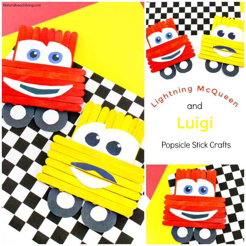Disney Pixar Cars Popsicle Stick Crafts for kids