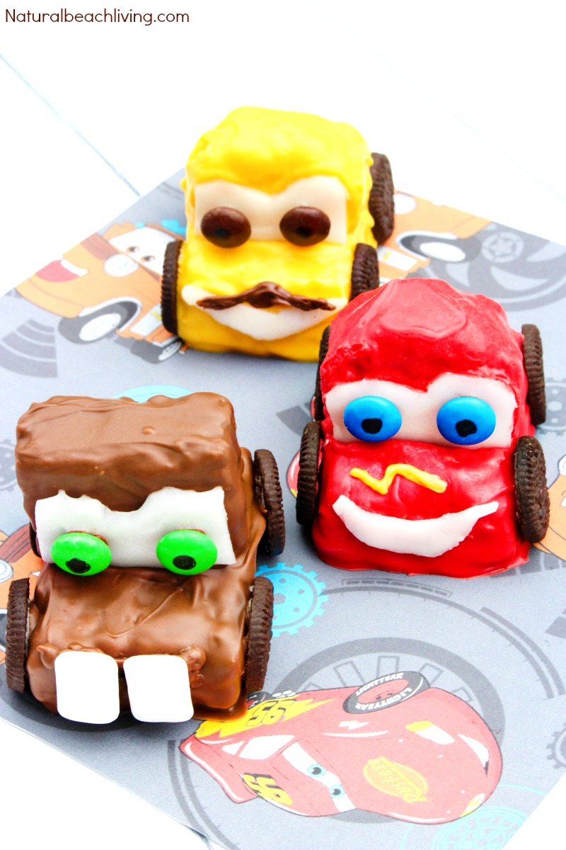 Disney Cars Rice Krispie Treats