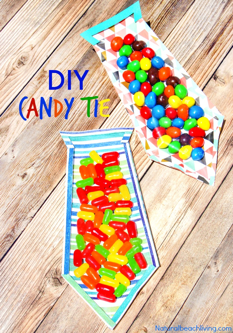 The Best DIY Father's Day Card, A Fun Father's Day Candy Tie for kids to make for Dad, Create this Great craft idea for kids for The Perfect DIY Father's Day Card, Handmade Gifts are the best and everyone will love this sweet treat