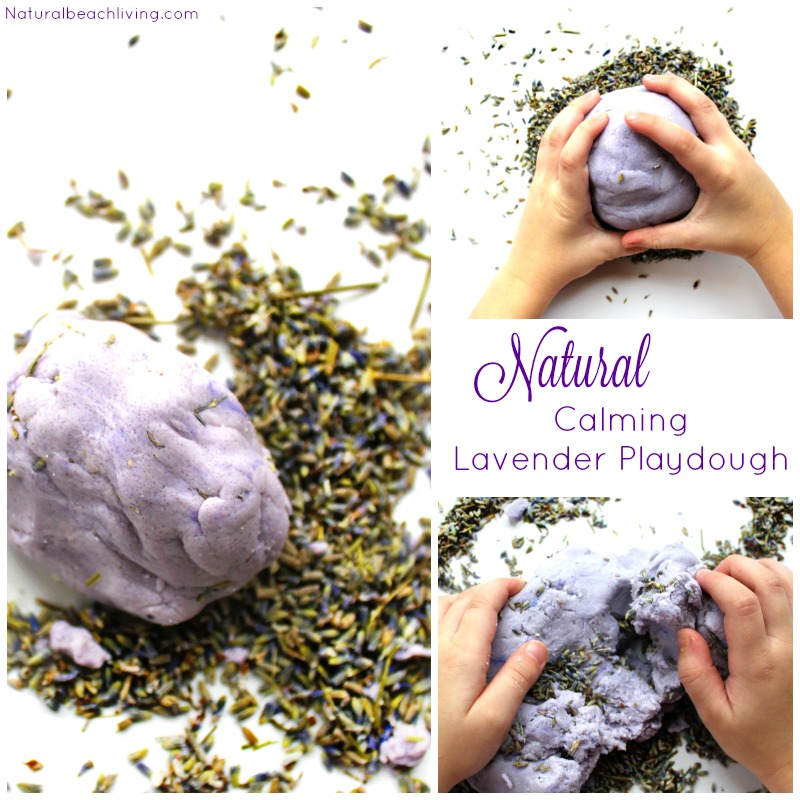 Amazing Calming Natural Lavender Playdough recipe for kids