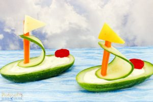 Cucumber Boat Shaped Snack for Kids - Natural Beach Living