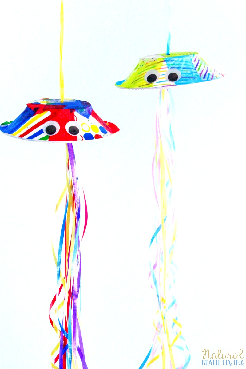 Jellyfish Crafts Activity, Preschool Craft, Under the sea theme, Ocean Animal Crafts