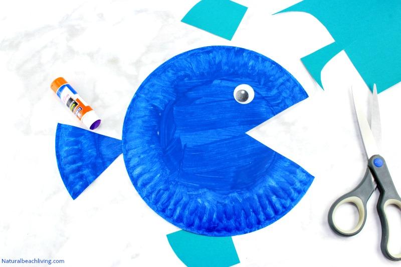 Super Cute Paper Plate Fish Craft For Kids Natural Beach