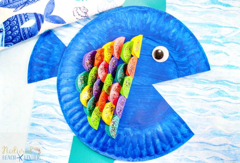 Super Cute Paper Plate Fish Craft for Kids , Natural Beach
