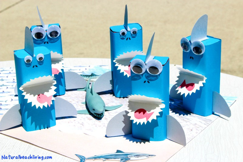 Shark Craft Perfect Under the Sea Party Idea, Shark Crafts for Kids, Shark Week Ideas for Kids, Ocean Theme Party Food Idea, Fun for a Kids Summer Idea