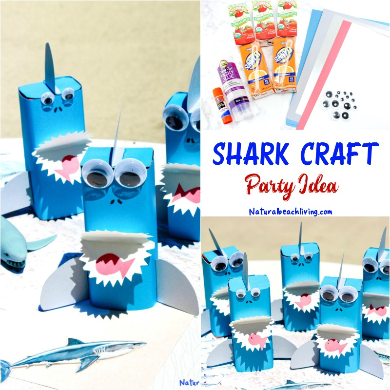 Shark Craft A Perfect Under The Sea Party Idea Natural