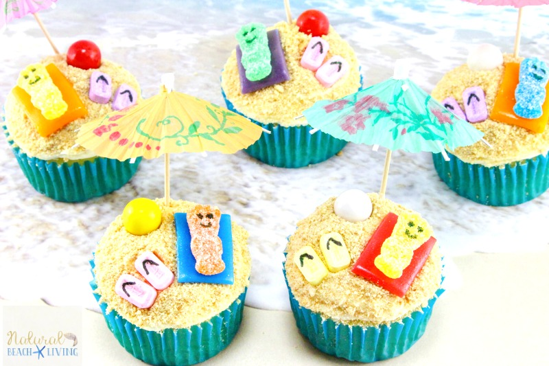 Beach Cupcakes for Kids and Adults. Fun Summer Party Food
