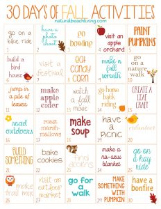 30 days of fall activities for the whole family free