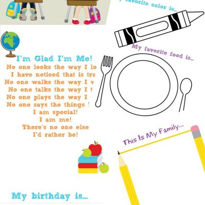 The Best All About Me Preschool Theme Printables