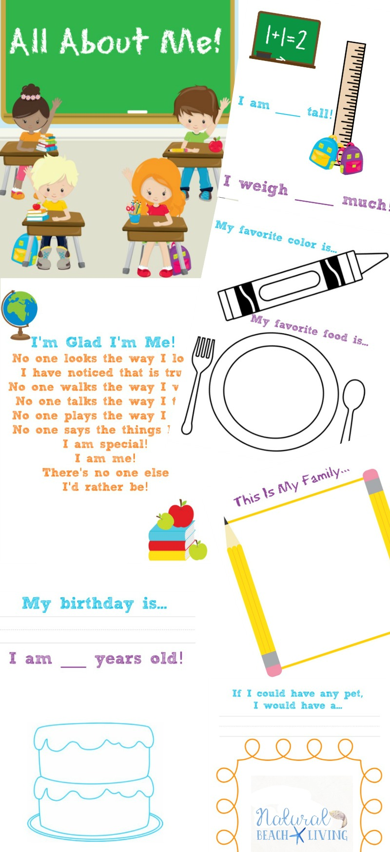 graphic relating to Printable All About Me identified as The Ideal All With regards to Me Preschool Topic Printables - Organic
