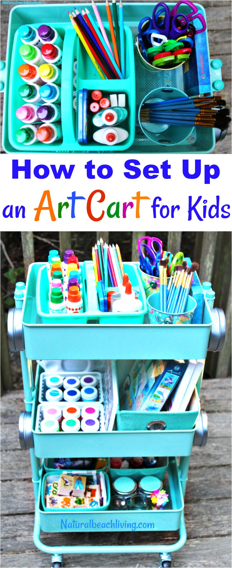 How to set up an art cart for kids