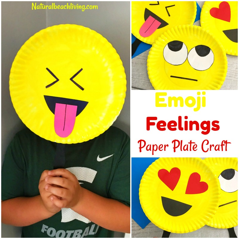 picture regarding Emoji Feelings Printable named Tremendous Adorable Emoji Paper Plate Craft - Inner thoughts Topic Bash