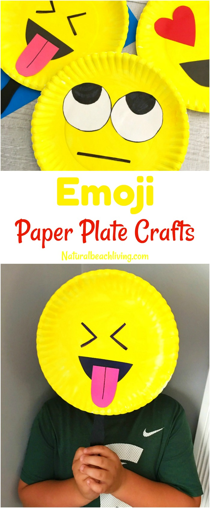 image about Emoji Feelings Printable known as Tremendous Lovely Emoji Paper Plate Craft - Feelings Concept Celebration