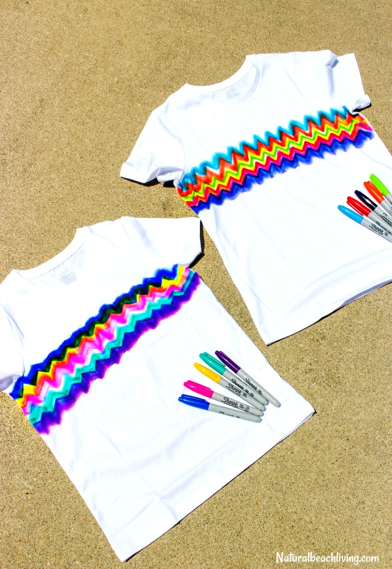 335f3358d704 How to Make Super Cool Sharpie Tie Dye Shirts - Natural Beach Living