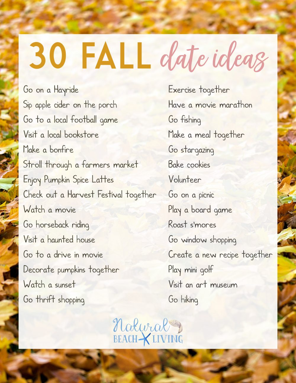Fun Date Night Ideas For Fall Natural Beach Living