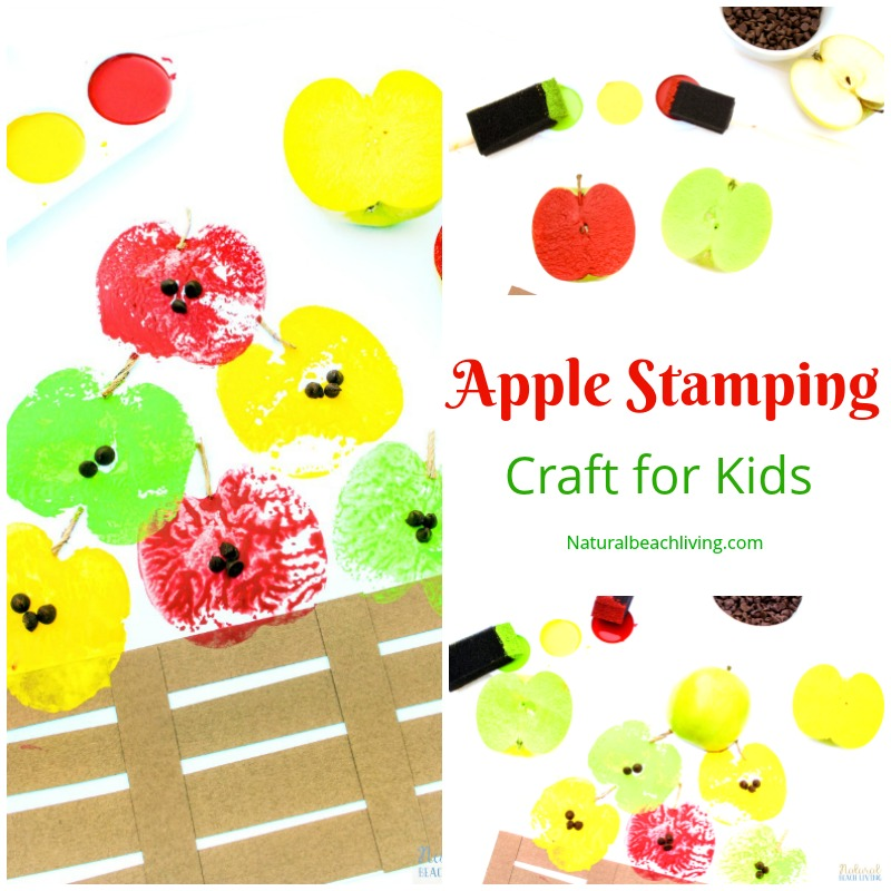 Perfect Apple stamping craft for kids, apple art