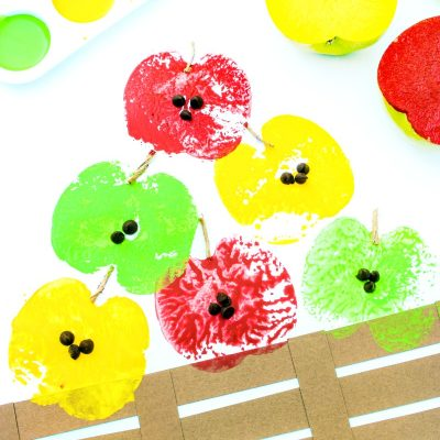 How to Make The Best Apple Stamping Craft with Kids
