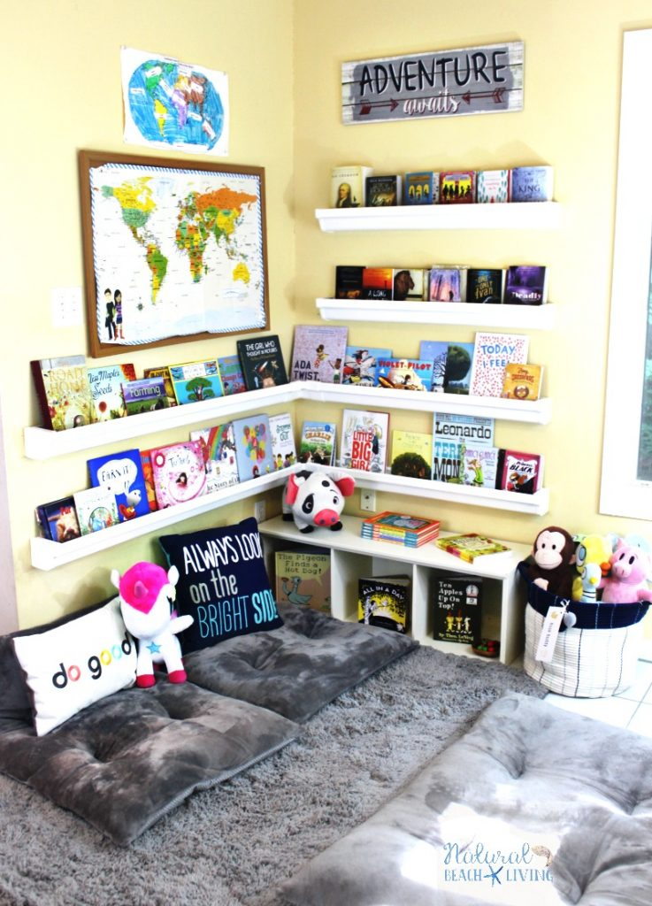 20+ Kids Reading Nook, Reading Corner for Kids, No matter how big your space is every child should have a reading nook. A Reading Nook for Kids can be a small closet, the corner of a room, or a super cozy chair you can curl up and read a great book.