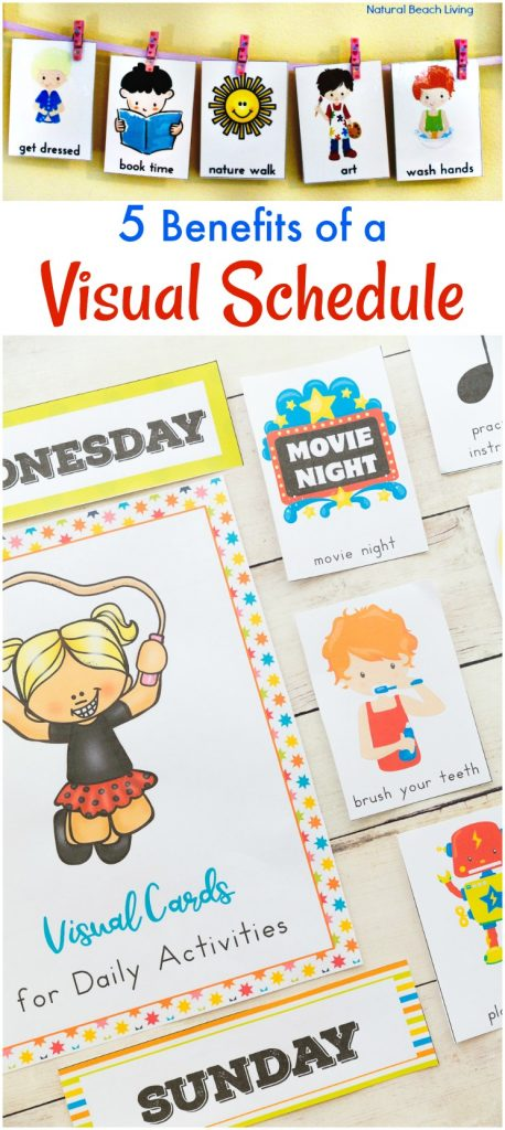 Daily Visual Schedule for keeping kids on task, Visual Schedule, Routine Cards for Kids, Special Needs, Autism, Visual Schedule Printable for home & school, Free Printable Picture Schedule Cards, Visual Schedule Printable, Autism Visual Schedule Printable, Daily Schedule for Kids, Picture Schedule