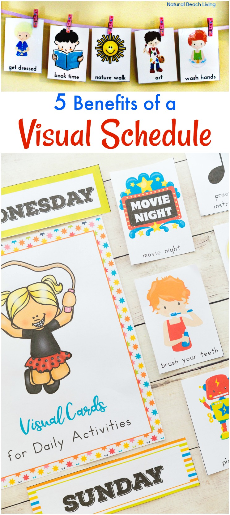 photograph about Children's Routine Charts Free Printable identify 5 Gains of Visible Schedules for Small children - Greatest