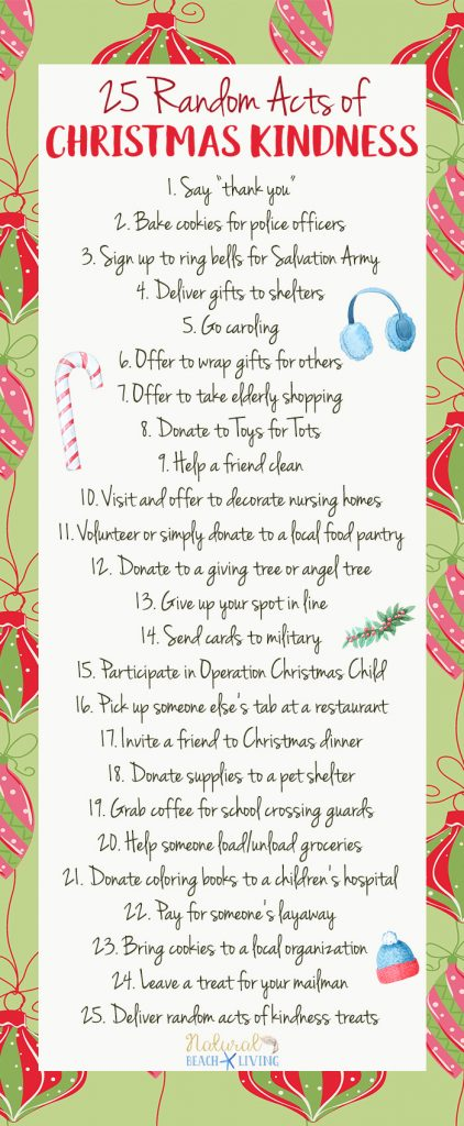 25 Random Acts of Christmas Kindness Printable, Hundreds of Random Acts of Kindness ideas, Free Random Acts of Kindness Printables, Random Acts of Kindness List, Random acts of kindness ideas for Kids and more #Rak #Randomactsofkindness #christmas
