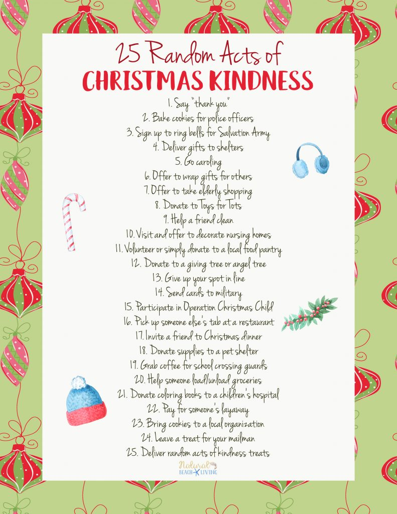25 Random Acts of Christmas Kindness Printable, Hundreds of Random Acts of Kindness ideas, Free Random Acts of Kindness Printables, Random Acts of Kindness List, Random acts of kindness ideas for Kids and more #Rak #Randomactsofkindness