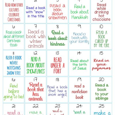 Christmas Reading Challenge for Kids