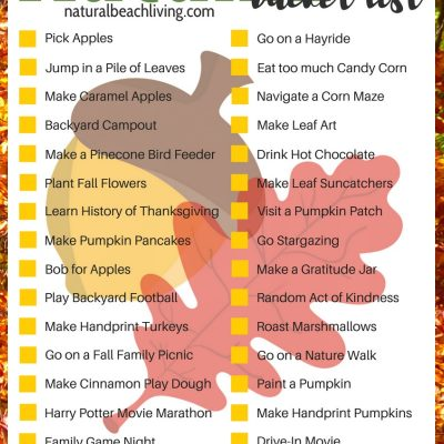 Free Printable Bucket List for Fall – 32 Fun Fall Ideas for Families