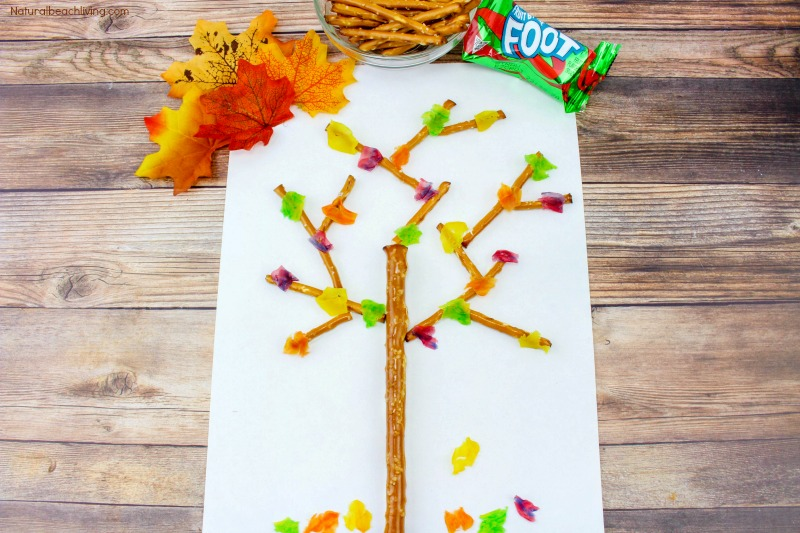 Fall Snacks Kids Love to Make and Eat, Edible Trees, Snacks for Fall, Kids Snacks, Fall Snacks Kids Make, fall snacks for kids, fun kids snack, Leaves Theme