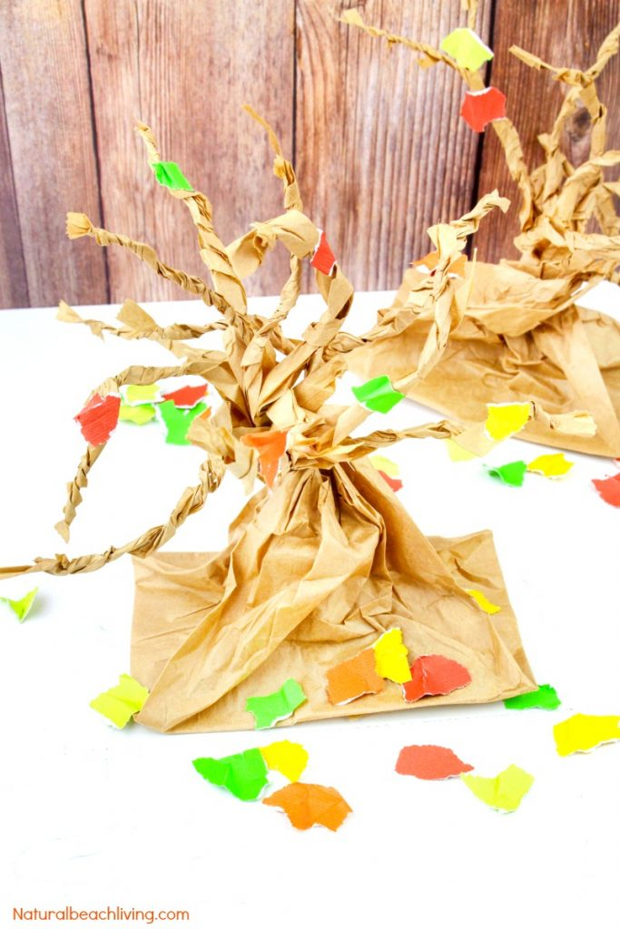 Fall Tree Paper Bag Crafts Kids Love - Natural Beach Living