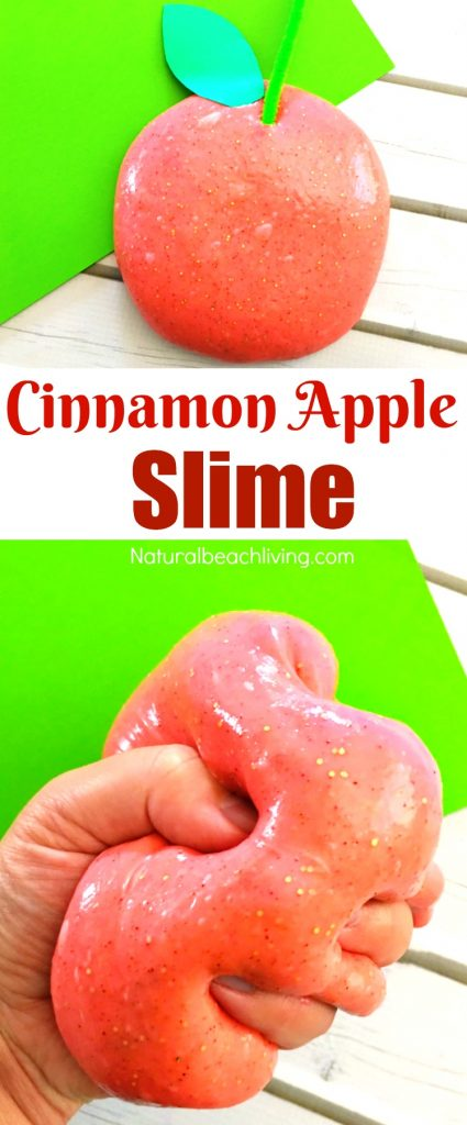How to Make Apple Jiggly Slime, Slime Recipe, Jiggly Slime Recipe, Apple Scented Slime, Slime Recipes, Homemade Slime, Fall Sensory Play, Borax Slime for Kids Activities, #Slime