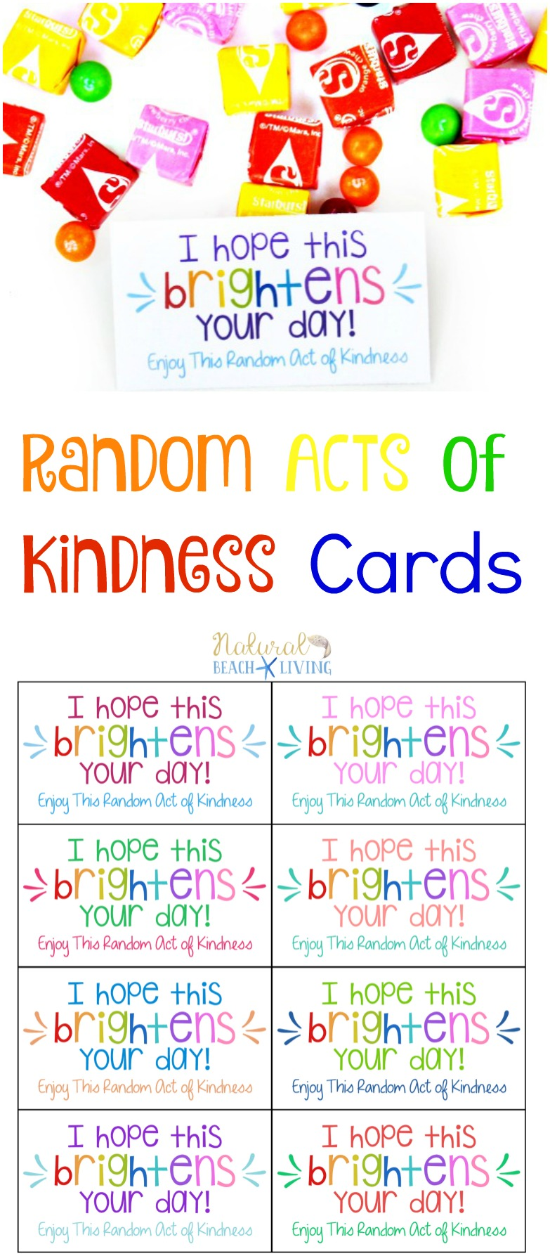 photo about I Printable named The Most straightforward Random Functions of Kindness Printable Playing cards Cost-free