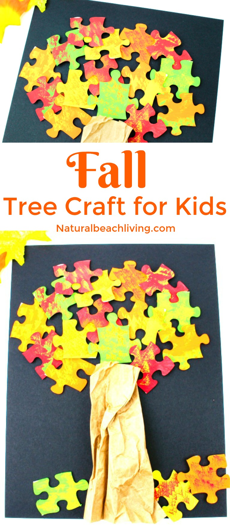 How to Make a Lovely Fall Tree Craft – Easy Puzzle Tree