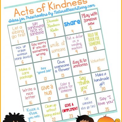 25 Best Random Acts of Kindness Ideas for Preschoolers & Kindergarten
