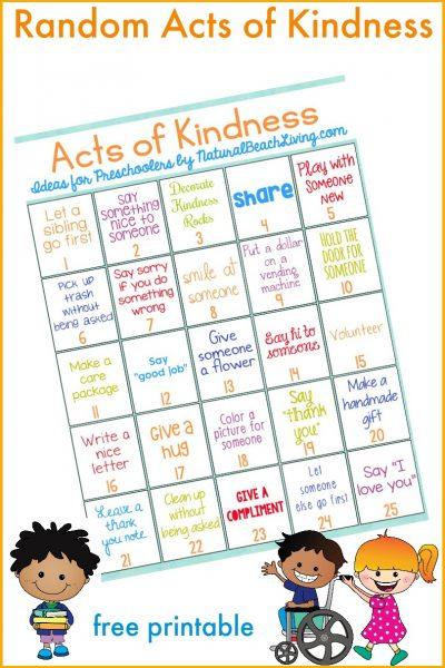 25 Best Random Acts of Kindness Ideas for Preschoolers & Kindergarten