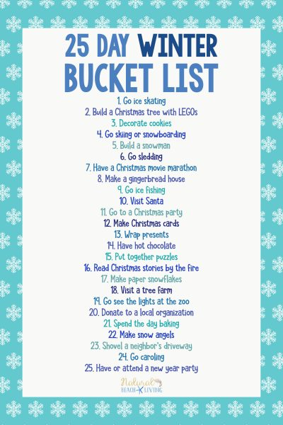 25 Winter Bucket List Ideas for Family Fun
