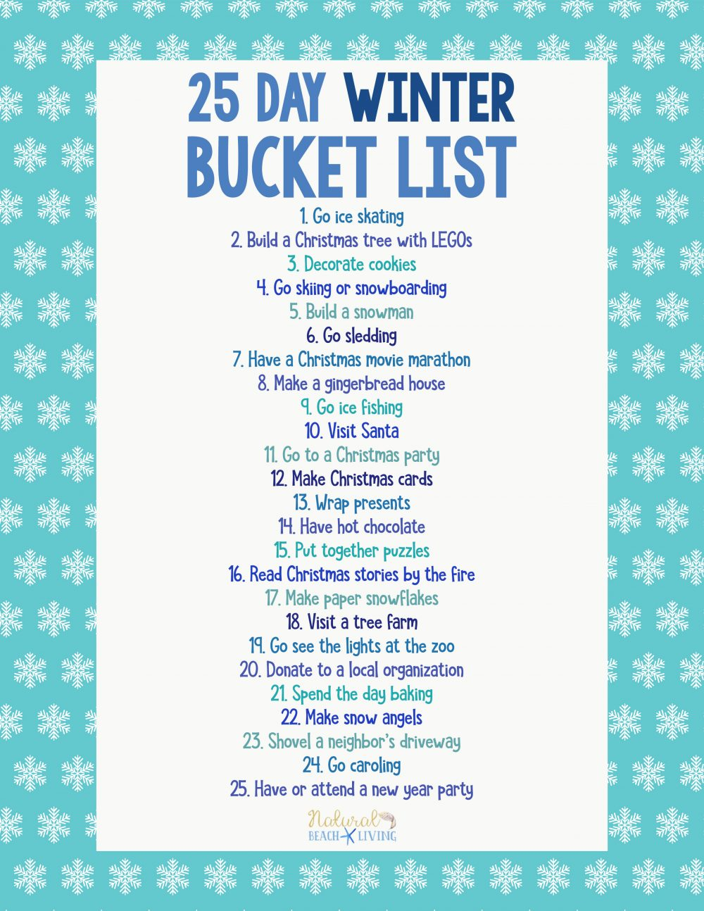 25 Winter Bucket List Ideas for Family Fun