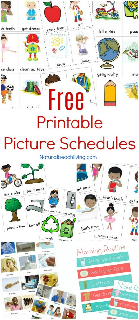 free printable picture schedule cards visual schedule printables