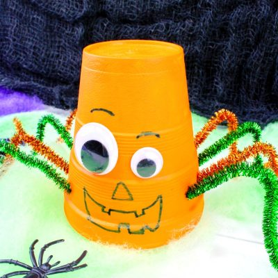 How to Make Halloween Styrofoam Cup Crafts – Easy Pumpkin and Spider Cup Craft