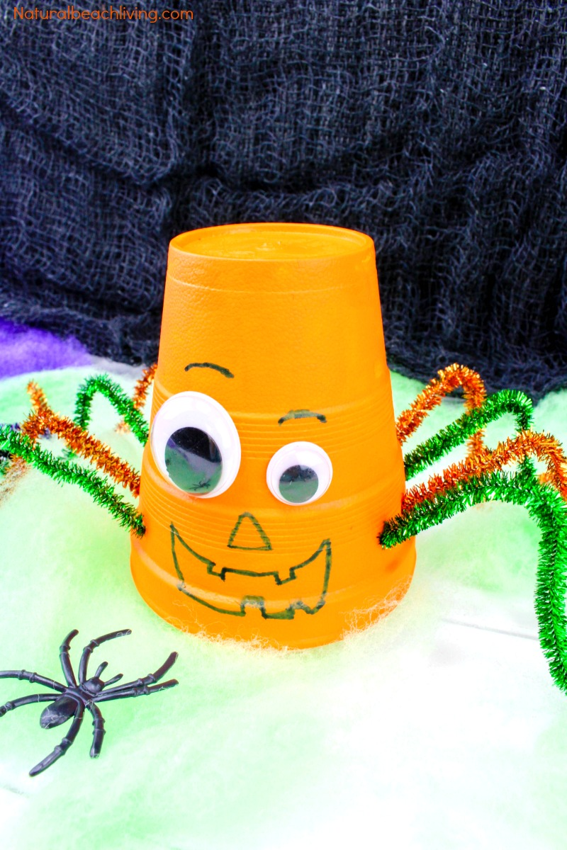 How To Make Halloween Styrofoam Cup Crafts Easy Pumpkin And