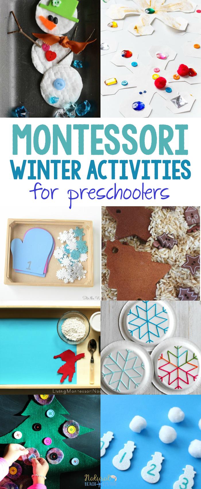 30+ Best Montessori Winter Activities for Preschool and Kindergarten