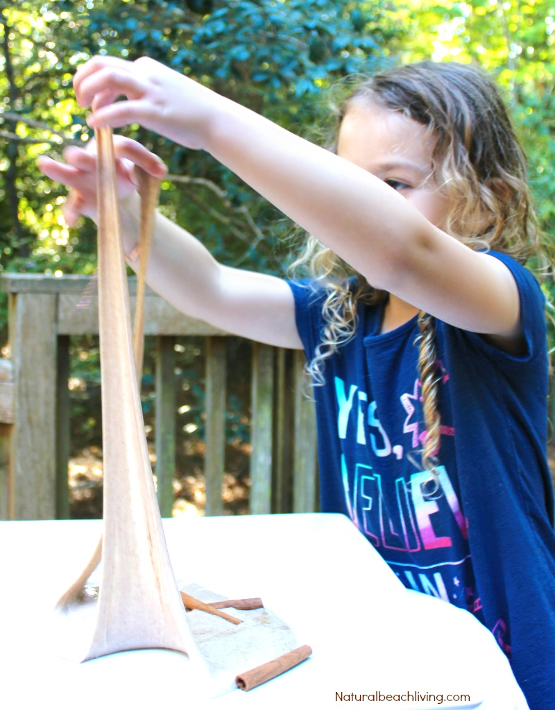 How to Make Cinnamon Jiggly Slime Recipe, Homemade Slime Recipe, DIY Slime, Cinnamon Slime Recipe, Cinnamon Sensory Play, Fall sensory play, Easy Slime Recipe, Borax Slime #slime #slimerecipe #sensory