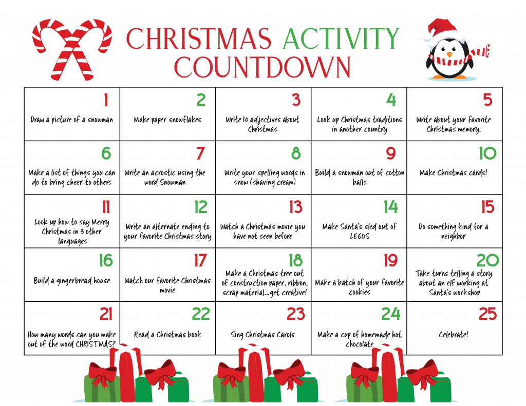 free christmas countdown calendar below