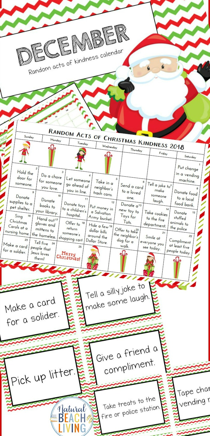 photograph regarding Free Printable Advent Calendar Template named Totally free Xmas Calendar Random Functions of Kindness Tips