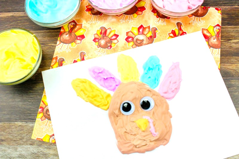 If you are looking for Easy Thanksgiving Crafts Kids will love makingthis easy to make puffy paint turkey is Perfect! Homemade puffy paint recipe, Thanksgiving preschool crafts, Turkey craft #Thanksgiving #preschoolcrafts